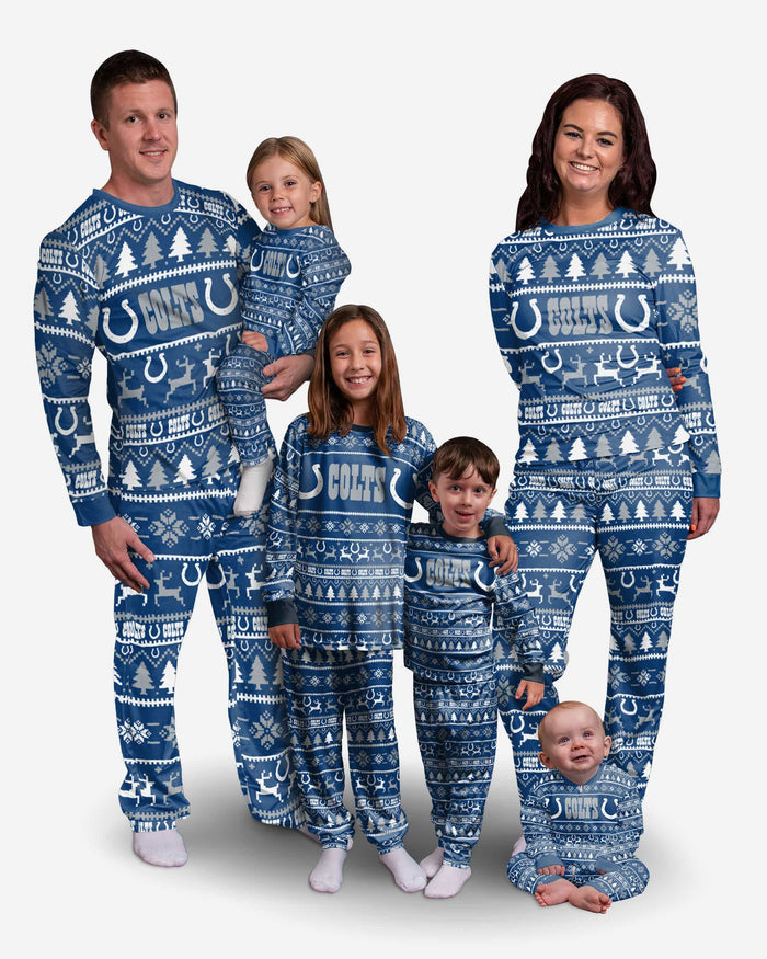 Indianapolis Colts Toddler Family Holiday Pajamas FOCO - FOCO.com