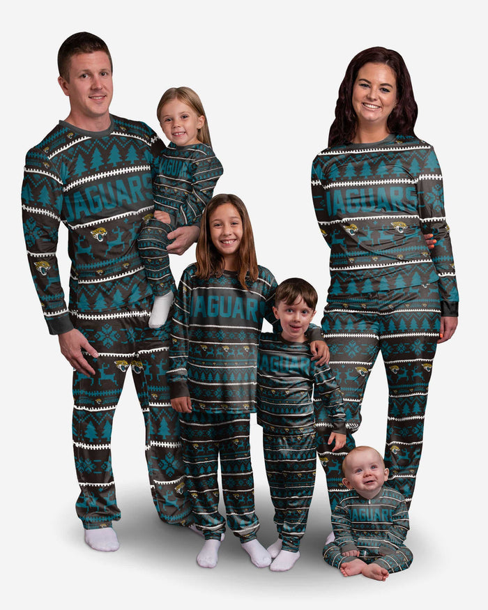 Jacksonville Jaguars Toddler Family Holiday Pajamas FOCO - FOCO.com