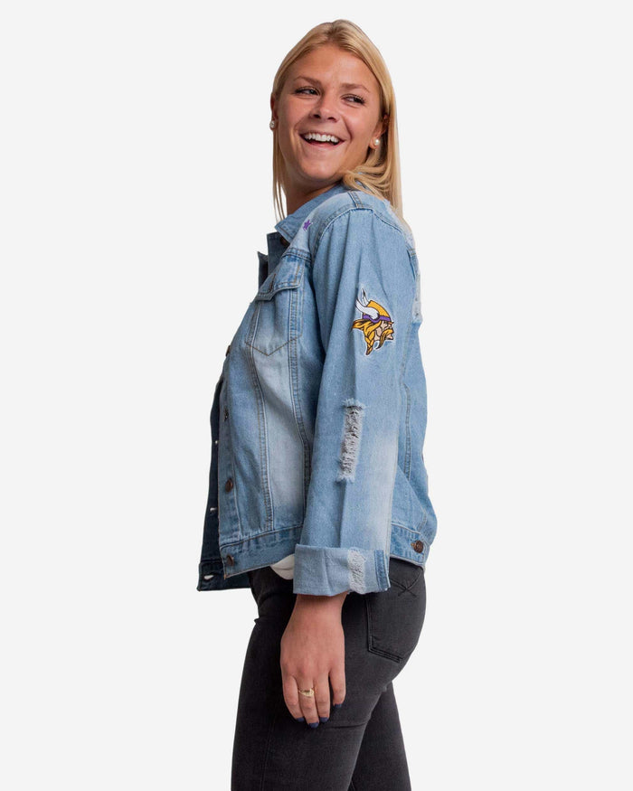 Minnesota Vikings Womens Denim Jacket FOCO - FOCO.com