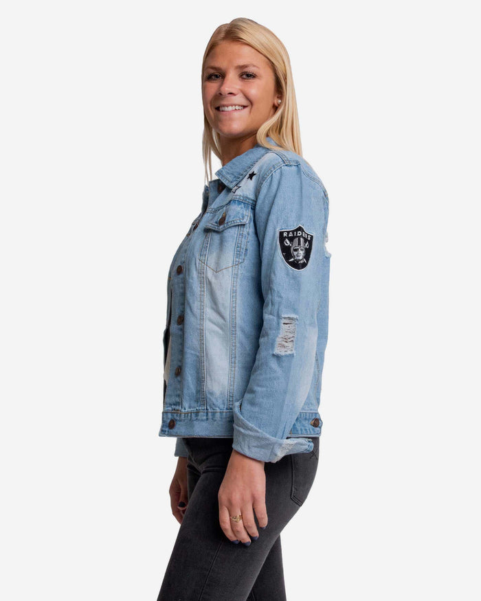 Las Vegas Raiders Womens Denim Jacket FOCO - FOCO.com