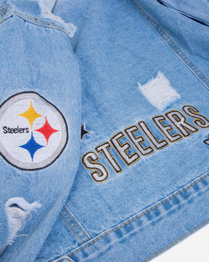 Pittsburgh Steelers Womens Denim Jacket FOCO - FOCO.com