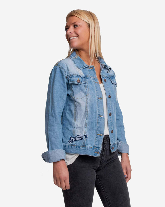 Seattle Seahawks Womens Denim Jacket FOCO S - FOCO.com