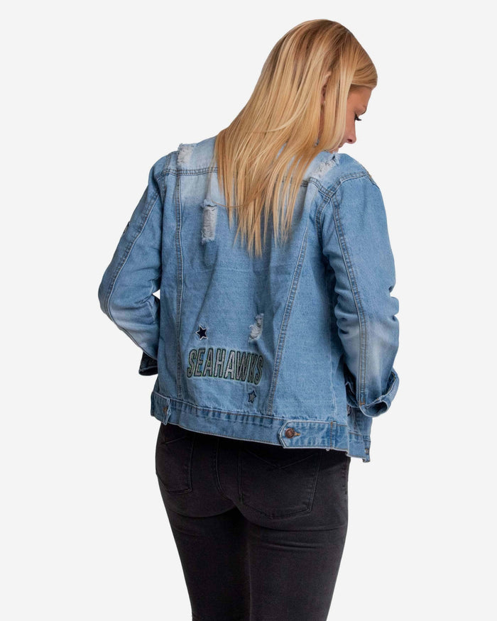 Seattle Seahawks Womens Denim Jacket FOCO - FOCO.com