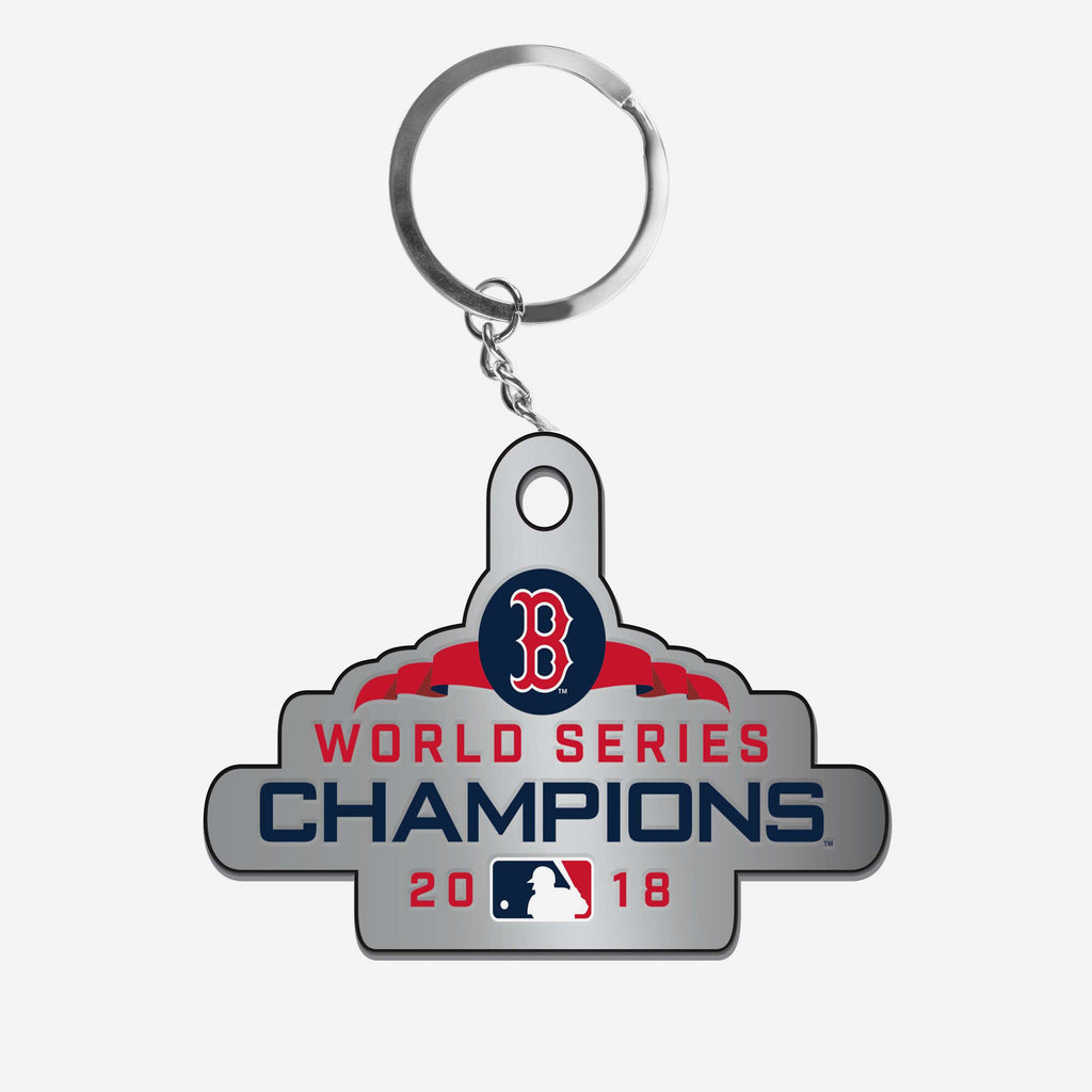Boston Red Sox 2018 World Series Champions Metal Logo Keychain FOCO - FOCO.com