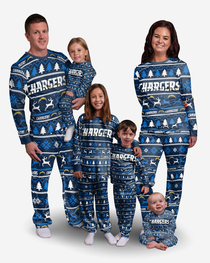 Los Angeles Chargers Youth Family Holiday Pajamas FOCO - FOCO.com