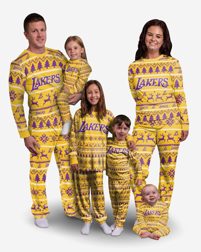 Los Angeles Lakers Toddler Family Holiday Pajamas FOCO - FOCO.com