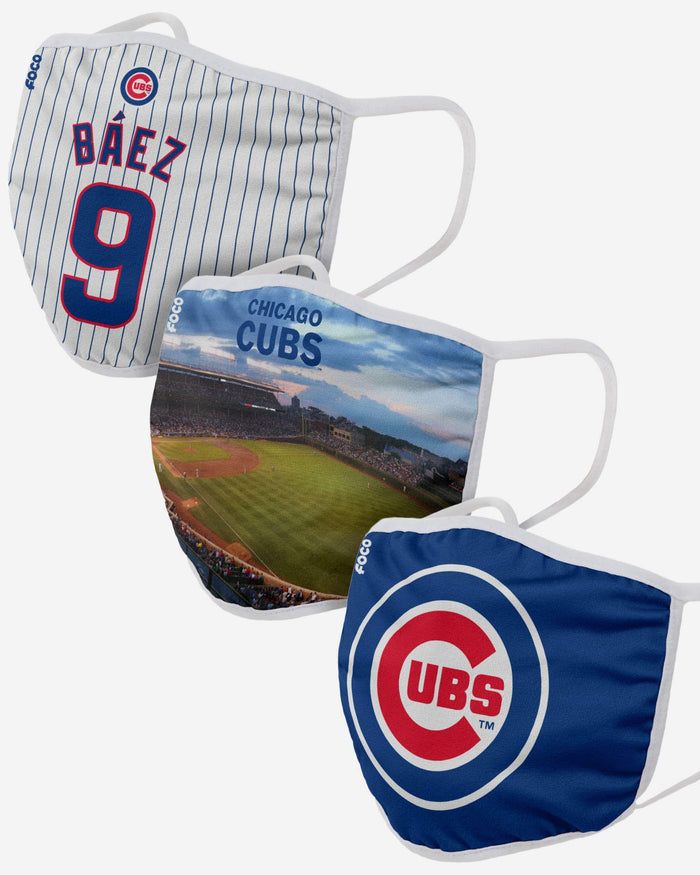 Chicago Cubs Fan Fest 3 Pack Face Cover FOCO - FOCO.com
