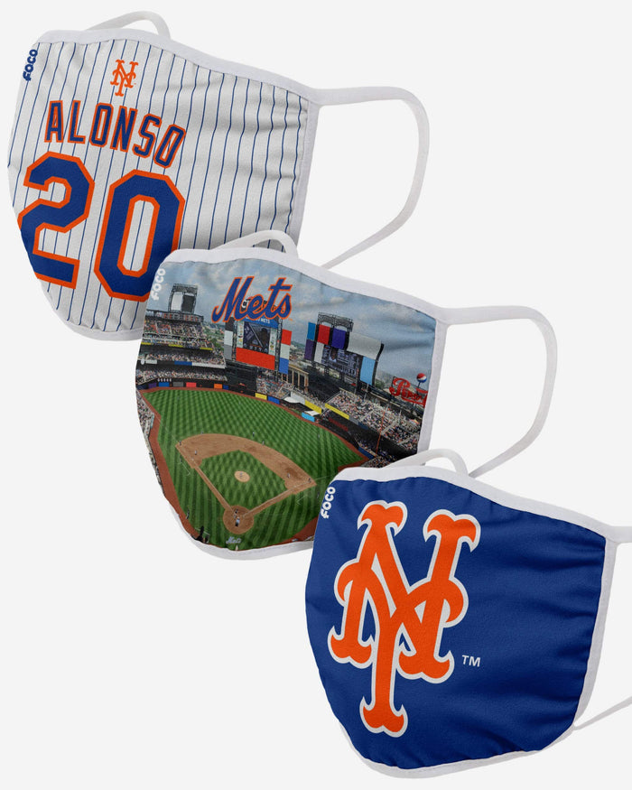 New York Mets Fan Fest 3 Pack Face Cover FOCO - FOCO.com