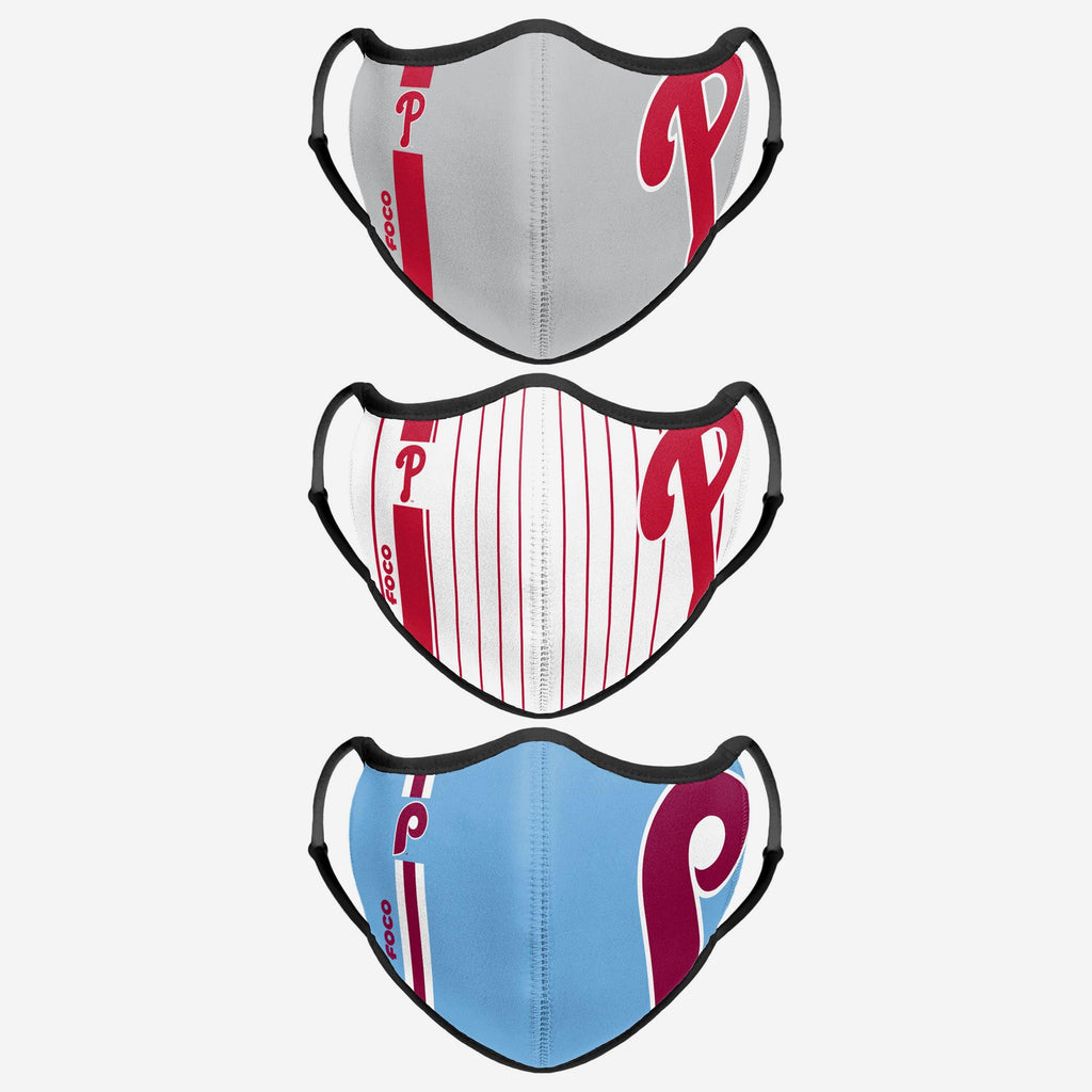 Philadelphia Phillies Sport 3 Pack Face Cover FOCO - FOCO.com