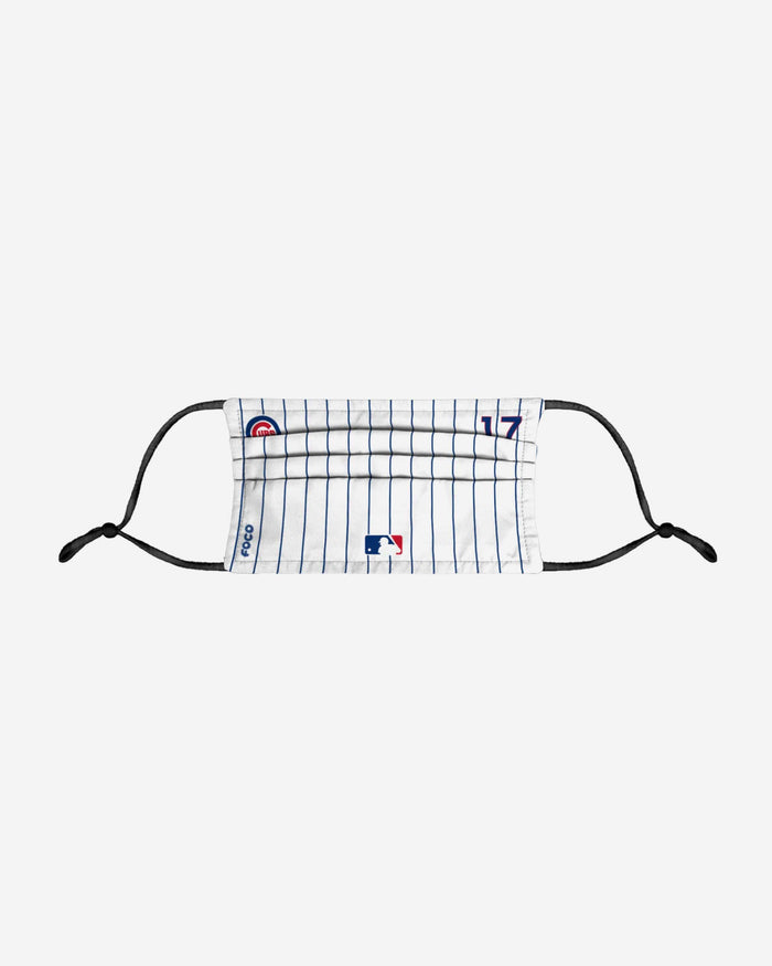 Kris Bryant Chicago Cubs On-Field Gameday Pinstripe Adjustable Face Cover FOCO - FOCO.com