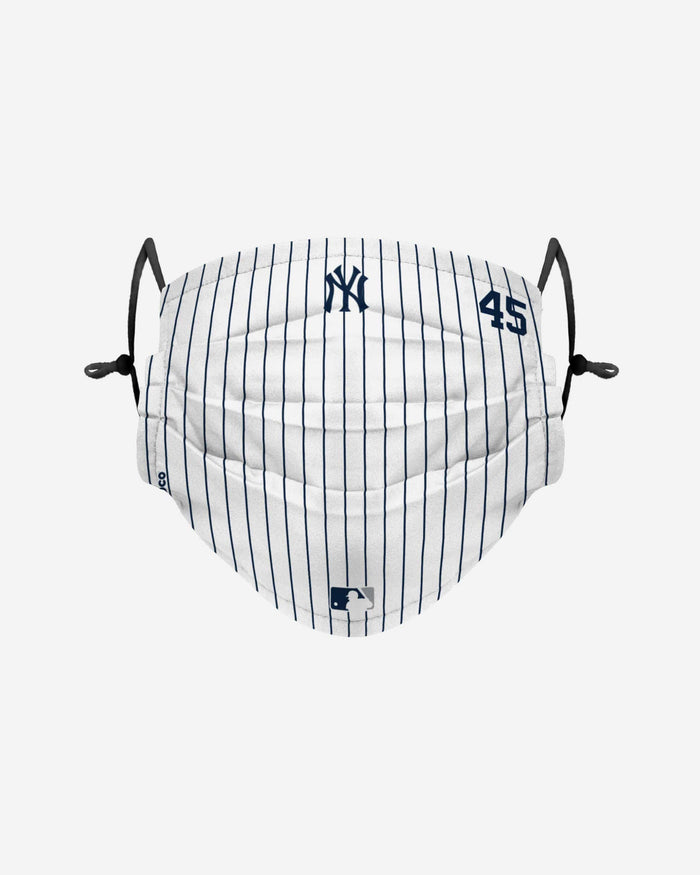 Gerrit Cole New York Yankees On-Field Gameday Pinstripe Adjustable Face Cover FOCO - FOCO.com