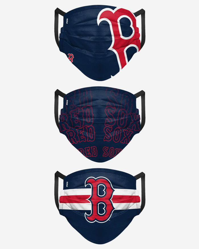 Boston Red Sox Matchday 3 Pack Face Cover FOCO - FOCO.com