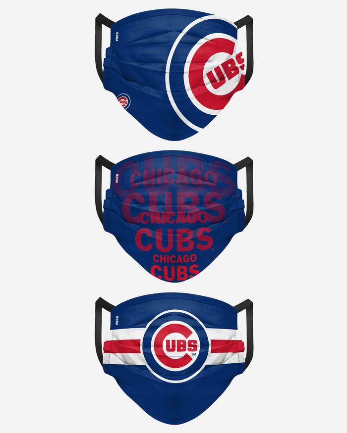 Chicago Cubs Matchday 3 Pack Face Cover FOCO - FOCO.com