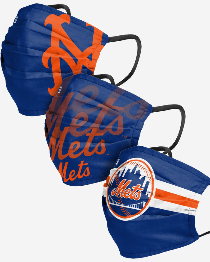 New York Mets Matchday 3 Pack Face Cover FOCO - FOCO.com