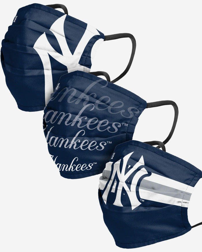New York Yankees Matchday 3 Pack Face Cover FOCO - FOCO.com