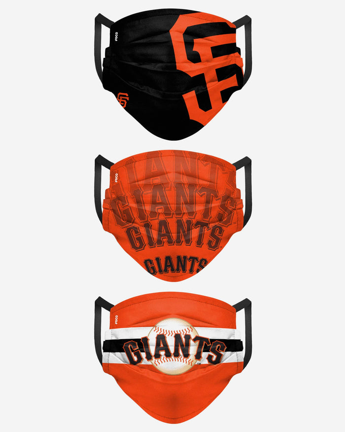 San Francisco Giants Matchday 3 Pack Face Cover FOCO - FOCO.com