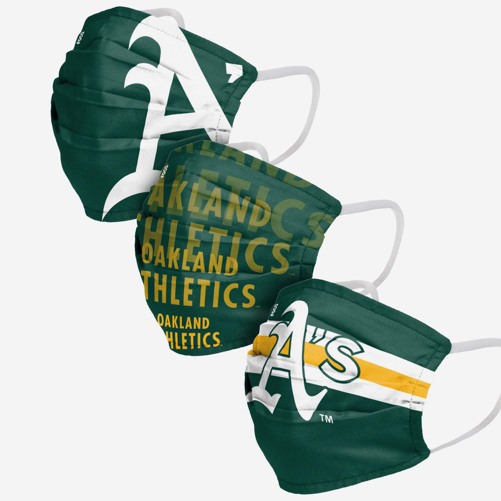 Oakland Athletics Matchday 3 Pack Face Cover FOCO - FOCO.com