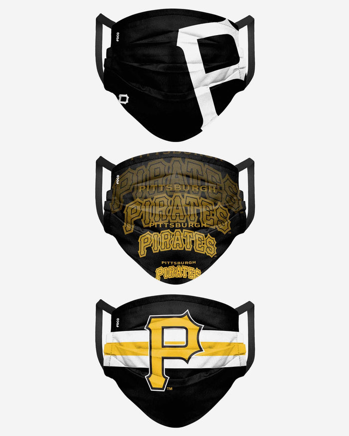Pittsburgh Pirates Matchday 3 Pack Face Cover FOCO - FOCO.com