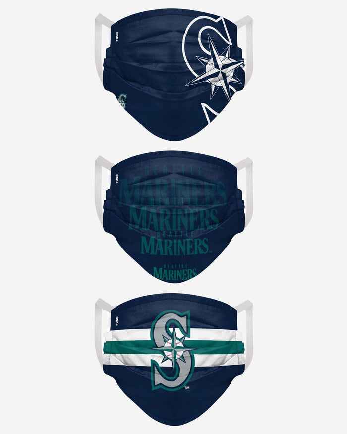 Seattle Mariners Matchday 3 Pack Face Cover FOCO - FOCO.com