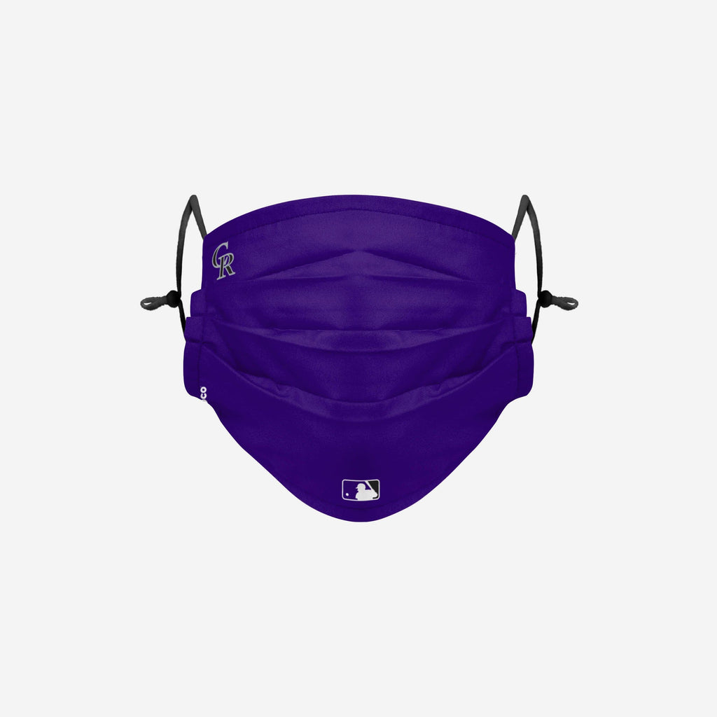Colorado Rockies On-Field Gameday Adjustable Face Cover FOCO - FOCO.com