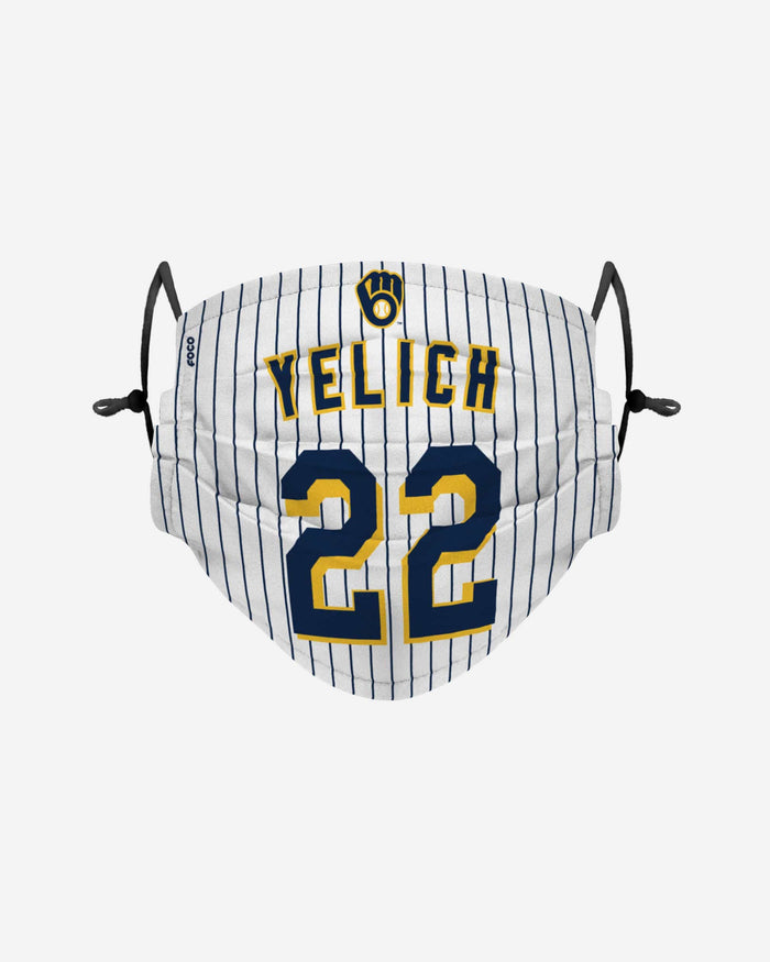 Christian Yelich Milwaukee Brewers Adjustable Face Cover FOCO - FOCO.com