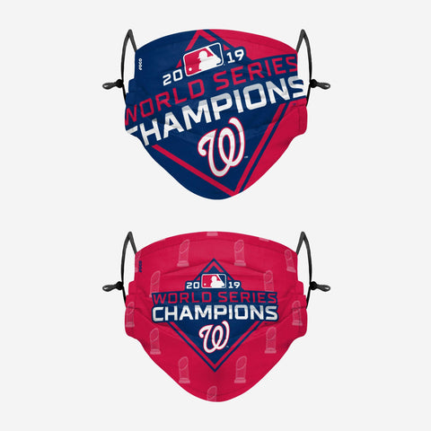 Washington Nationals Thematic Champions Adjustable 2 Pack Face Cover