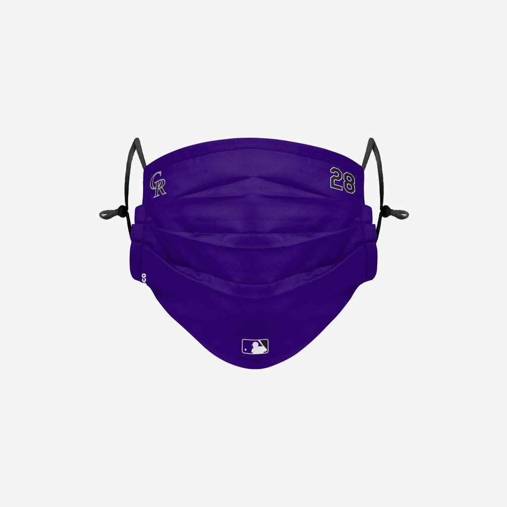 Nolan Arenado Colorado Rockies On-Field Gameday Adjustable Face Cover FOCO - FOCO.com
