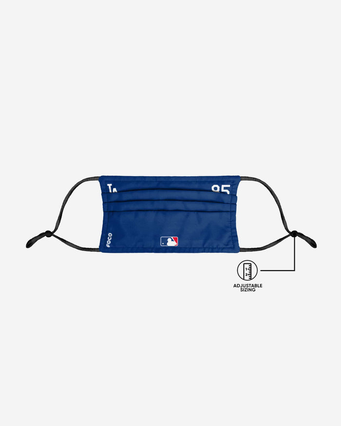 Dustin May Los Angeles Dodgers On-Field Gameday Adjustable Face Cover FOCO - FOCO.com