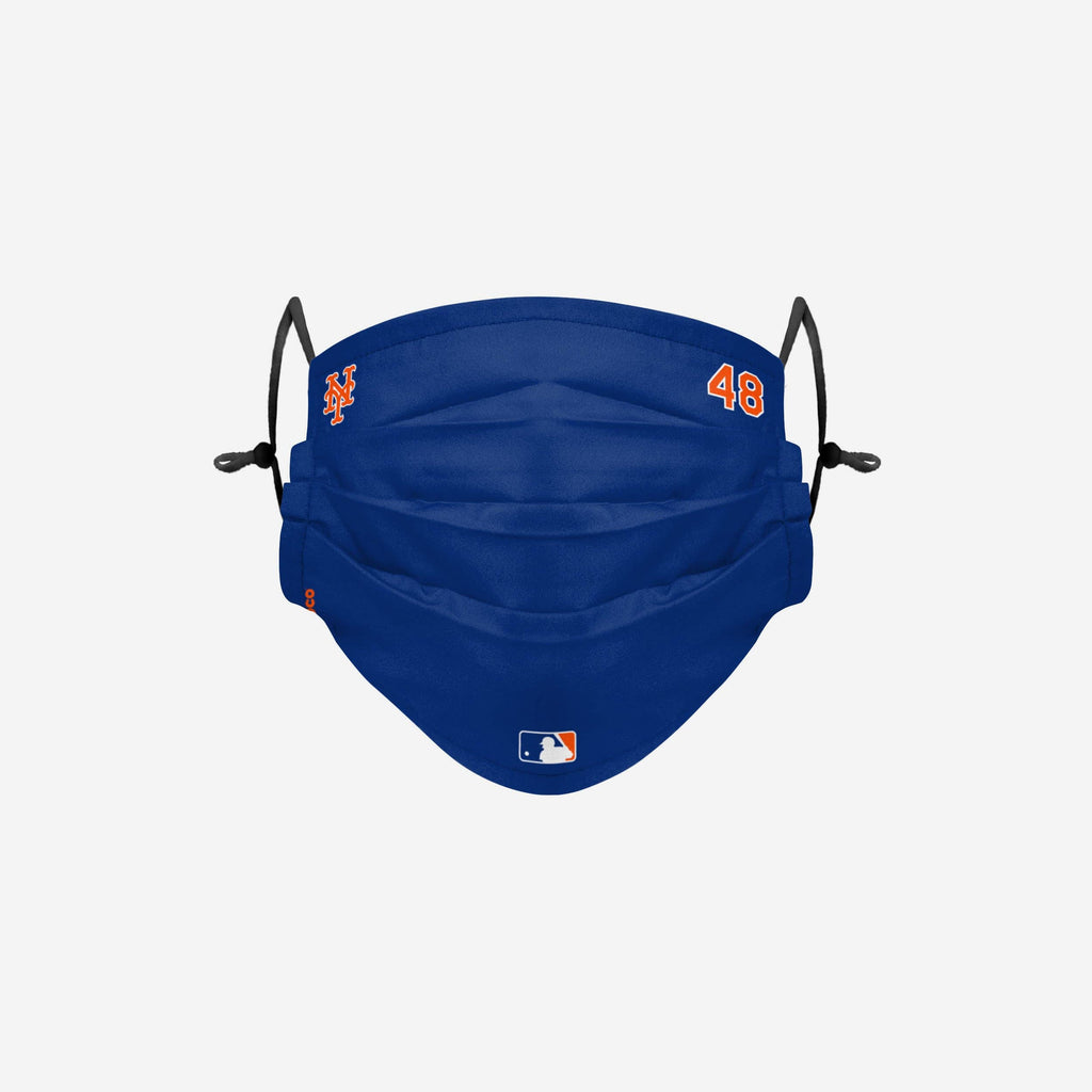 Jacob deGrom New York Mets On-Field Gameday Adjustable Face Cover FOCO - FOCO.com