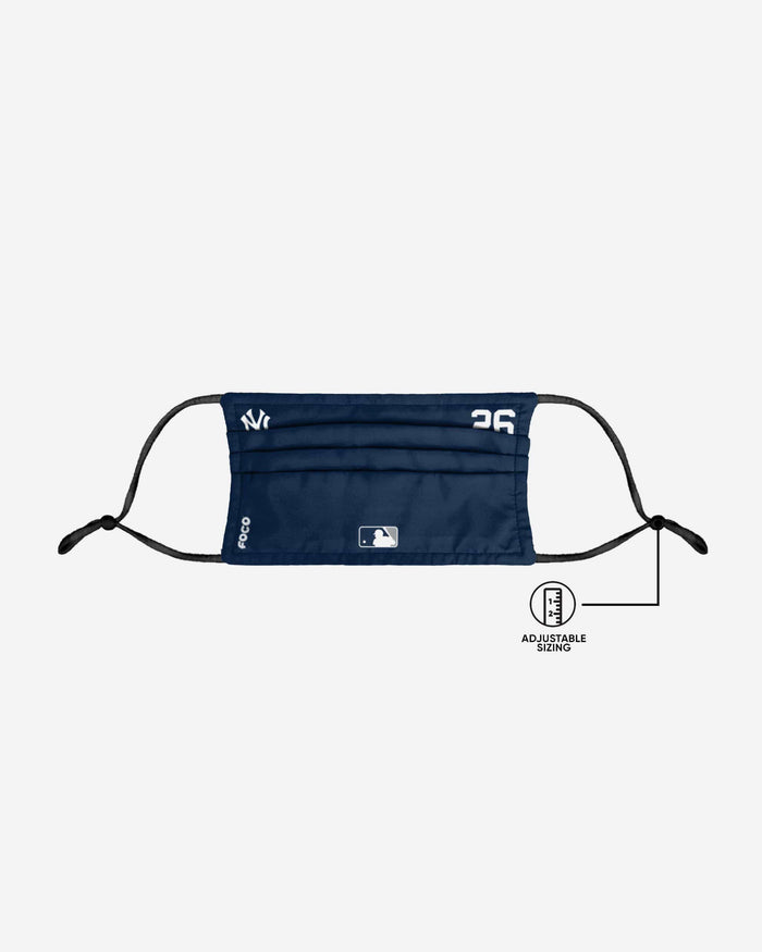 DJ Lemahieu New York Yankees On-Field Gameday Adjustable Face Cover FOCO - FOCO.com