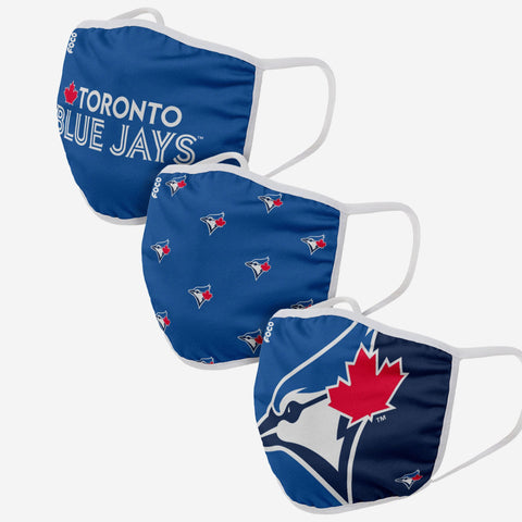 Toronto Blue Jays 3 Pack Face Cover