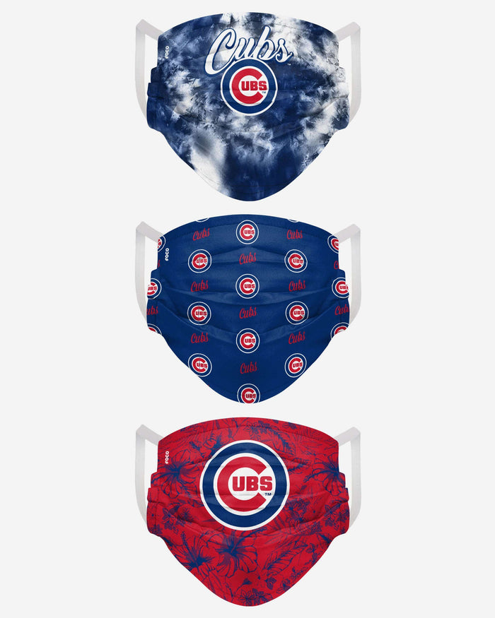 Chicago Cubs Womens Matchday 3 Pack Face Cover FOCO - FOCO.com