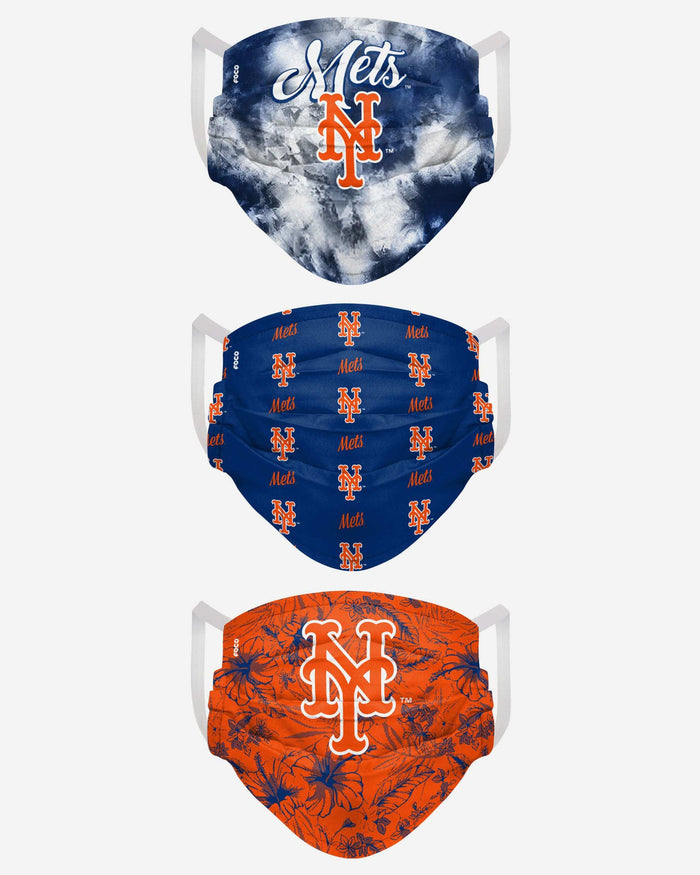 New York Mets Womens Matchday 3 Pack Face Cover FOCO - FOCO.com