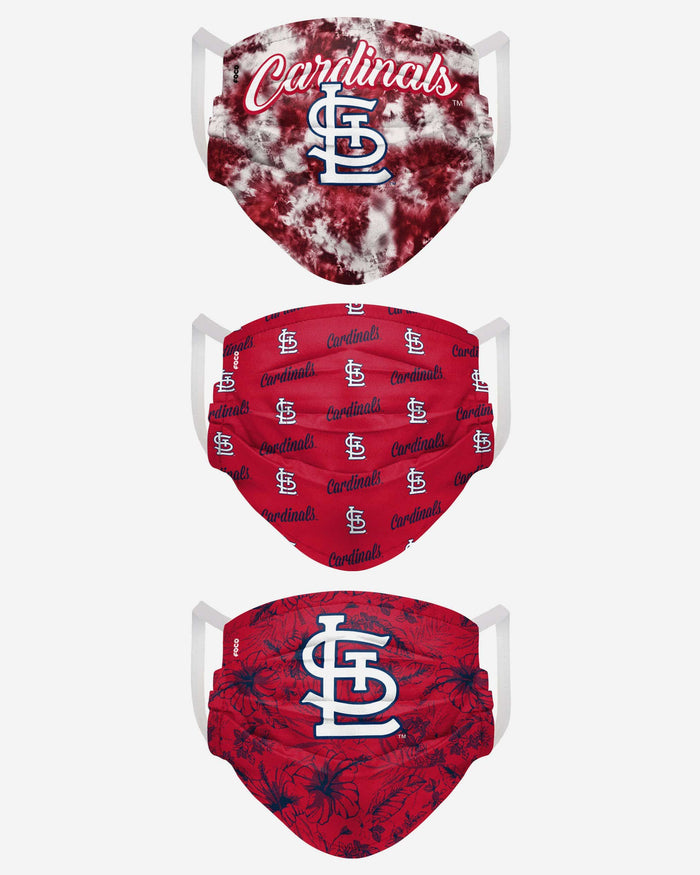 St Louis Cardinals Womens Matchday 3 Pack Face Cover FOCO - FOCO.com