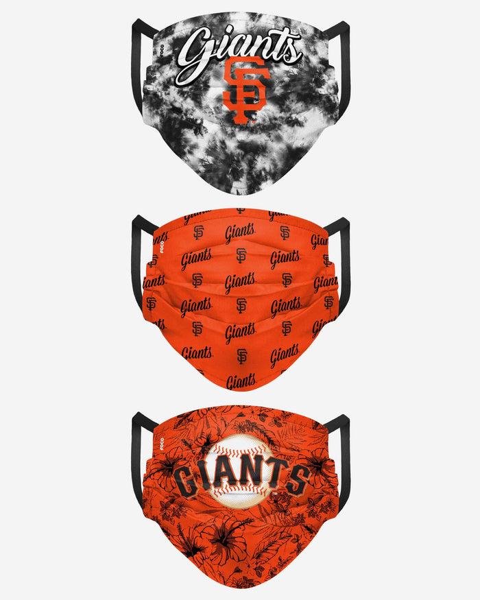 San Francisco Giants Womens Matchday 3 Pack Face Cover FOCO - FOCO.com
