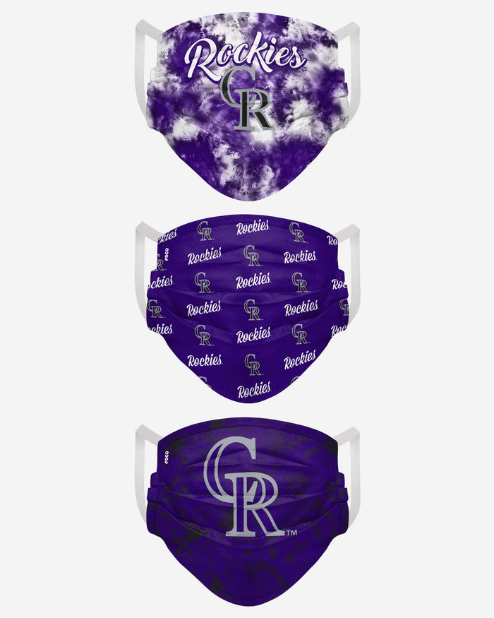 Colorado Rockies Womens Matchday 3 Pack Face Cover FOCO - FOCO.com