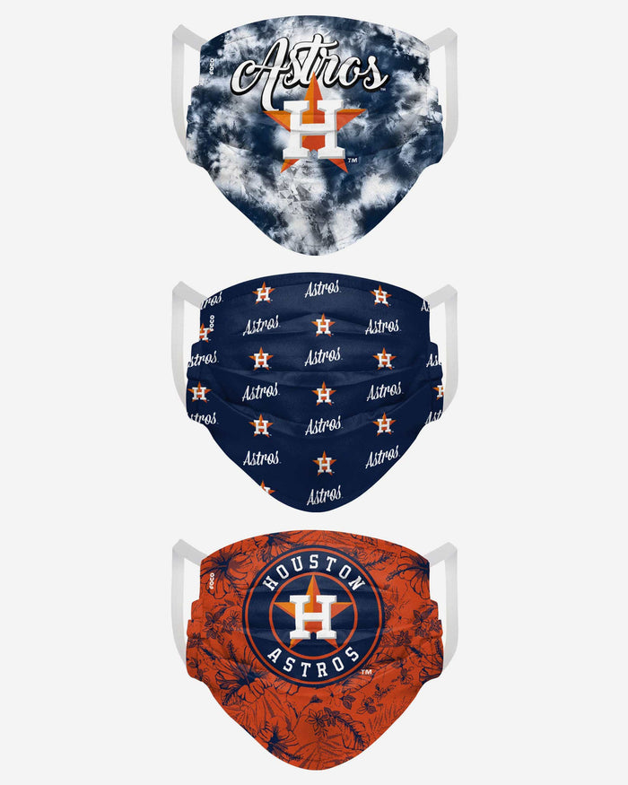 Houston Astros Womens Matchday 3 Pack Face Cover FOCO - FOCO.com