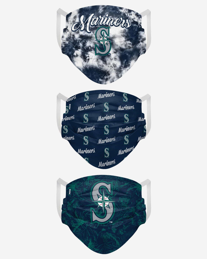 Seattle Mariners Womens Matchday 3 Pack Face Cover FOCO - FOCO.com