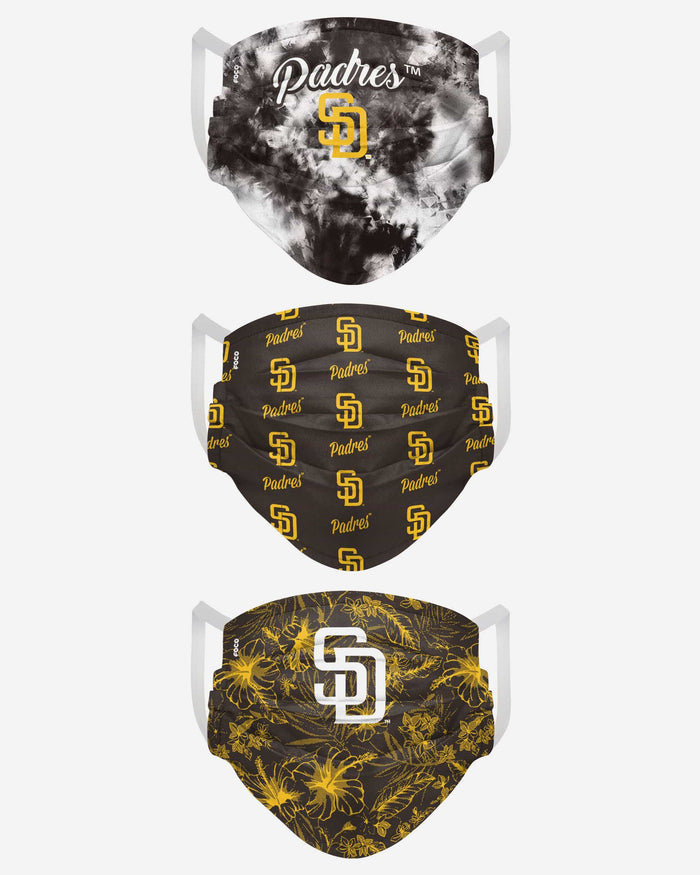 San Diego Padres Womens Matchday 3 Pack Face Cover FOCO - FOCO.com