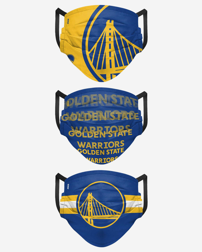 Golden State Warriors Matchday 3 Pack Face Cover FOCO - FOCO.com