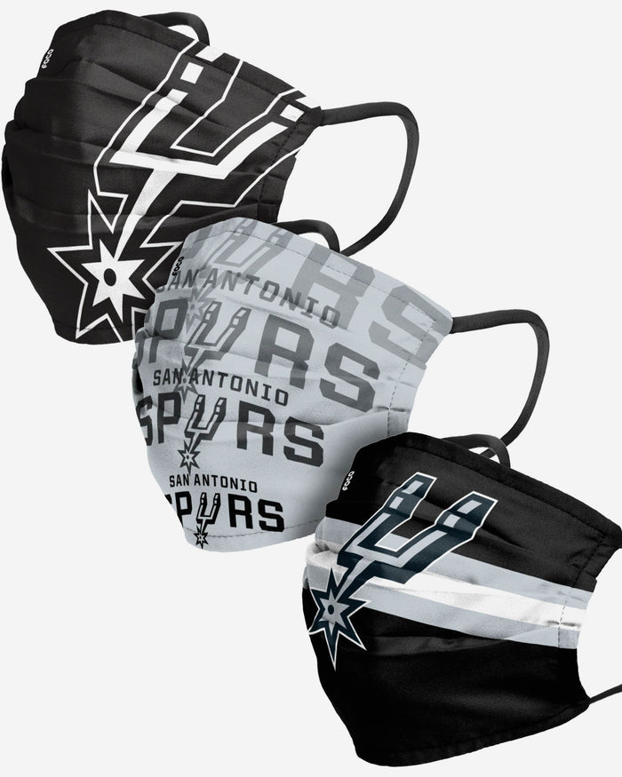 San Antonio Spurs Matchday 3 Pack Face Cover FOCO Adult - FOCO.com