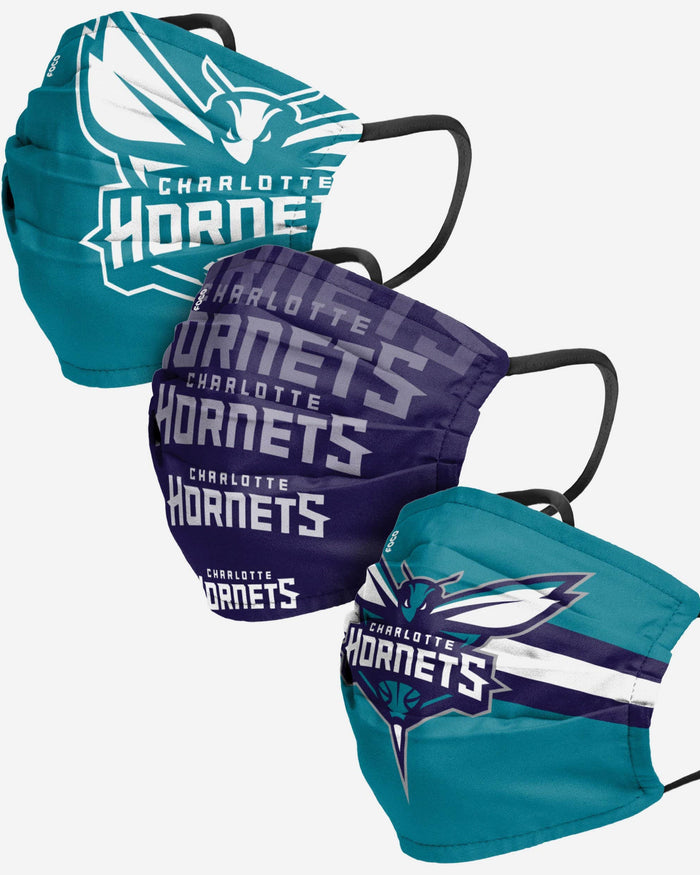 Charlotte Hornets Matchday 3 Pack Face Cover FOCO - FOCO.com