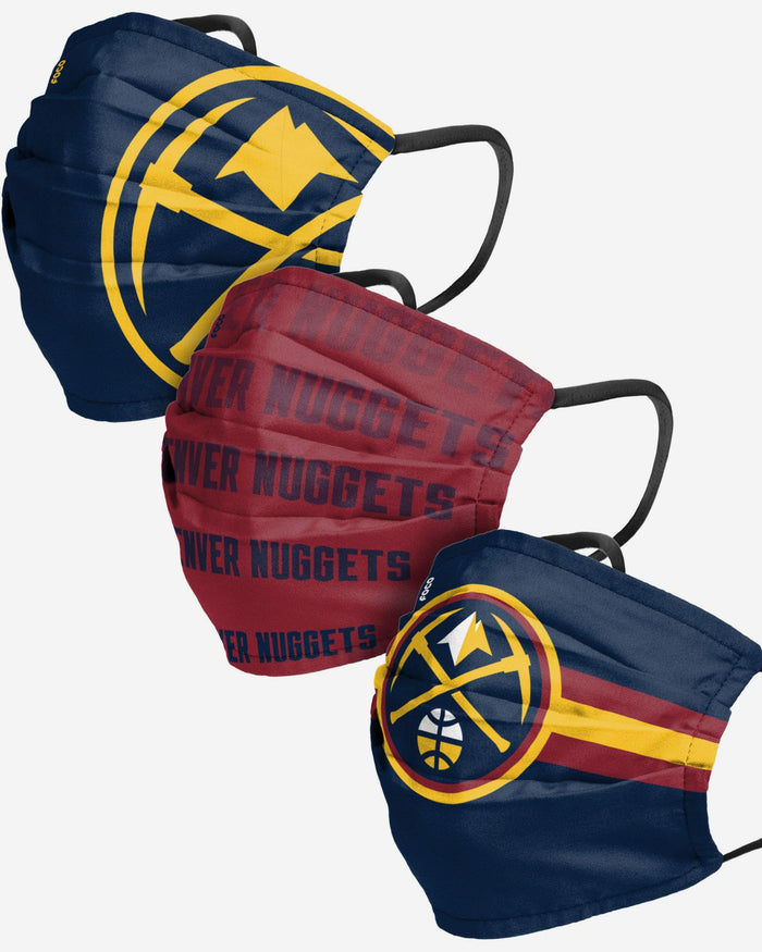 Denver Nuggets Matchday 3 Pack Face Cover FOCO - FOCO.com