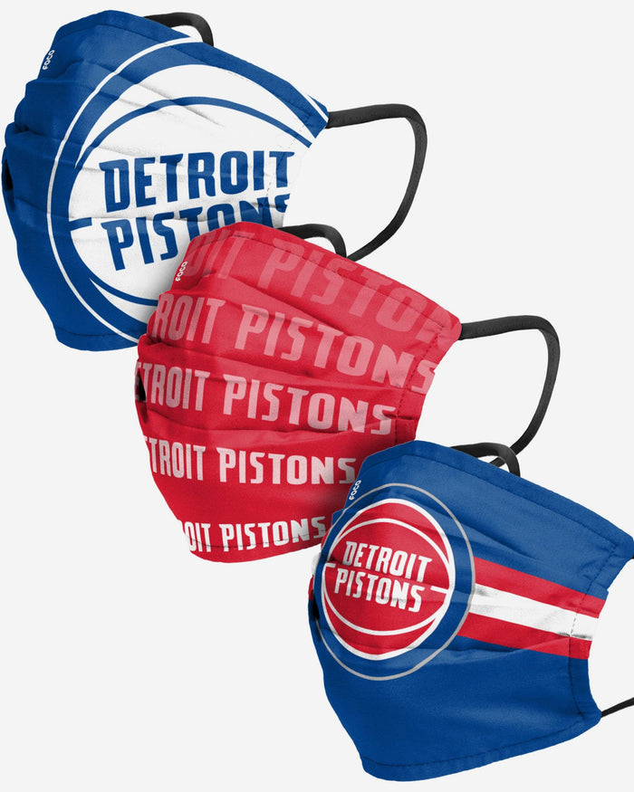 Detroit Pistons Matchday 3 Pack Face Cover FOCO - FOCO.com