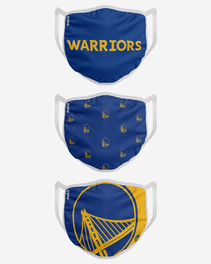 Golden State Warriors 3 Pack Face Cover FOCO - FOCO.com