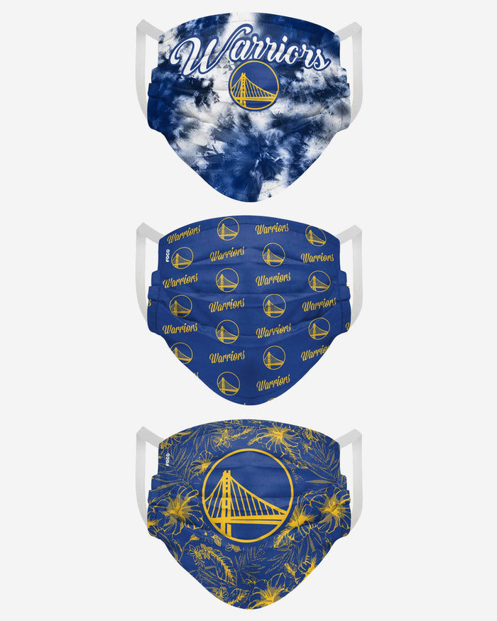 Golden State Warriors Womens Matchday 3 Pack Face Cover FOCO - FOCO.com