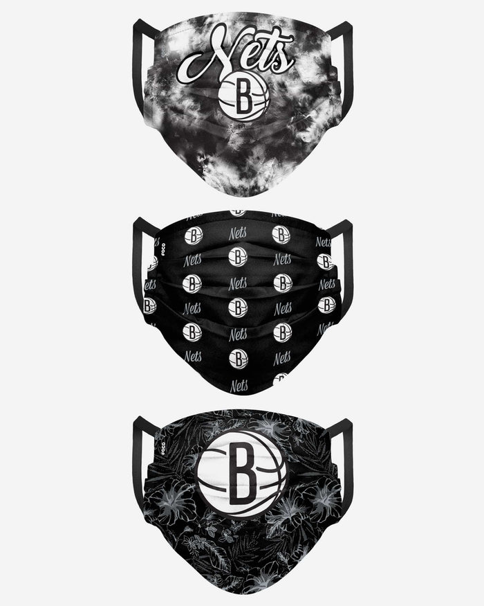 Brooklyn Nets Womens Matchday 3 Pack Face Cover FOCO - FOCO.com