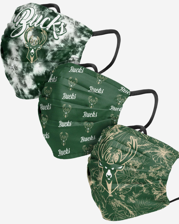 Milwaukee Bucks Womens Matchday 3 Pack Face Cover FOCO - FOCO.com