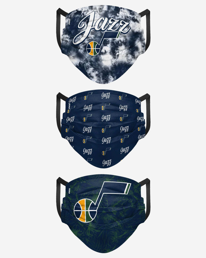 Utah Jazz Womens Matchday 3 Pack Face Cover FOCO - FOCO.com
