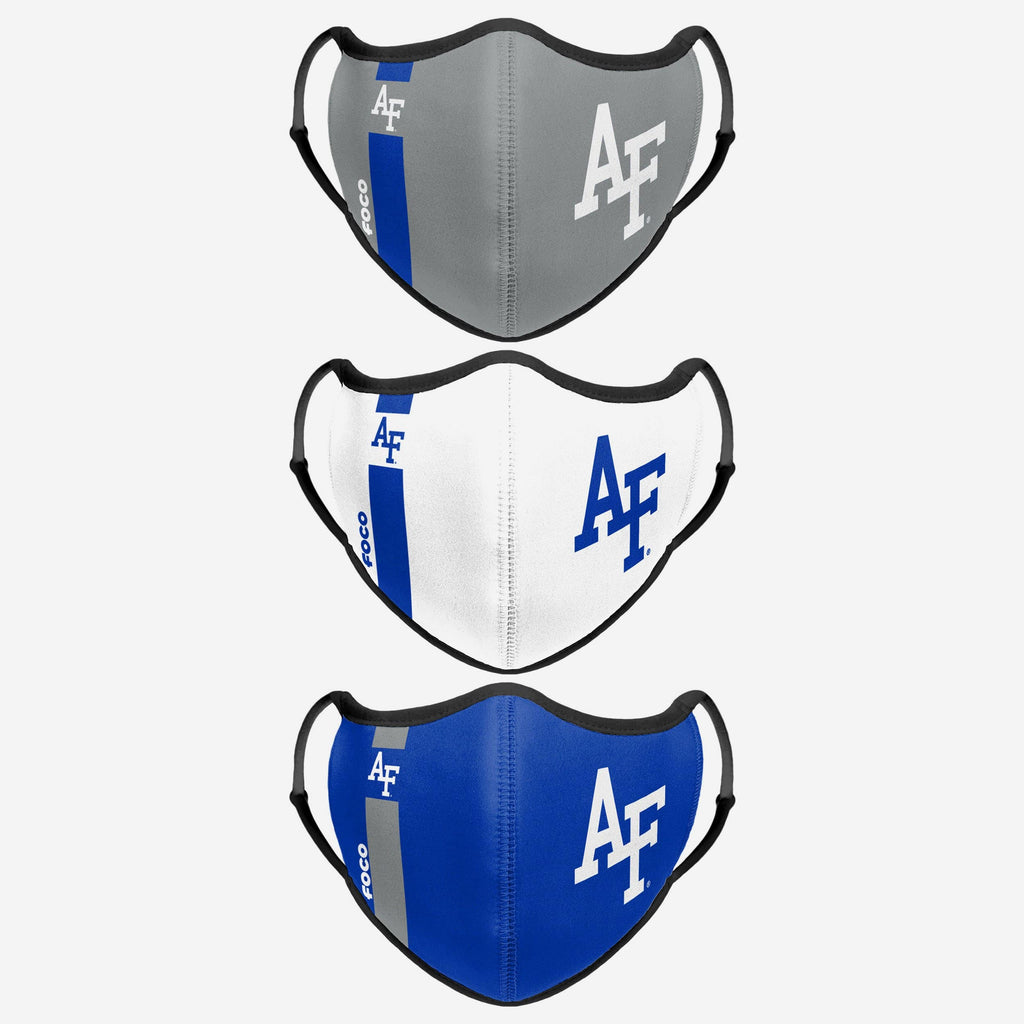 Air Force Falcons Sport 3 Pack Face Cover FOCO - FOCO.com